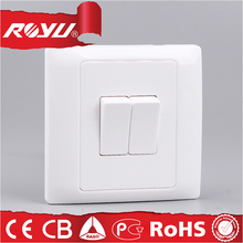 two way switches PC copper material,10A push button electrical wall switches brand with different color