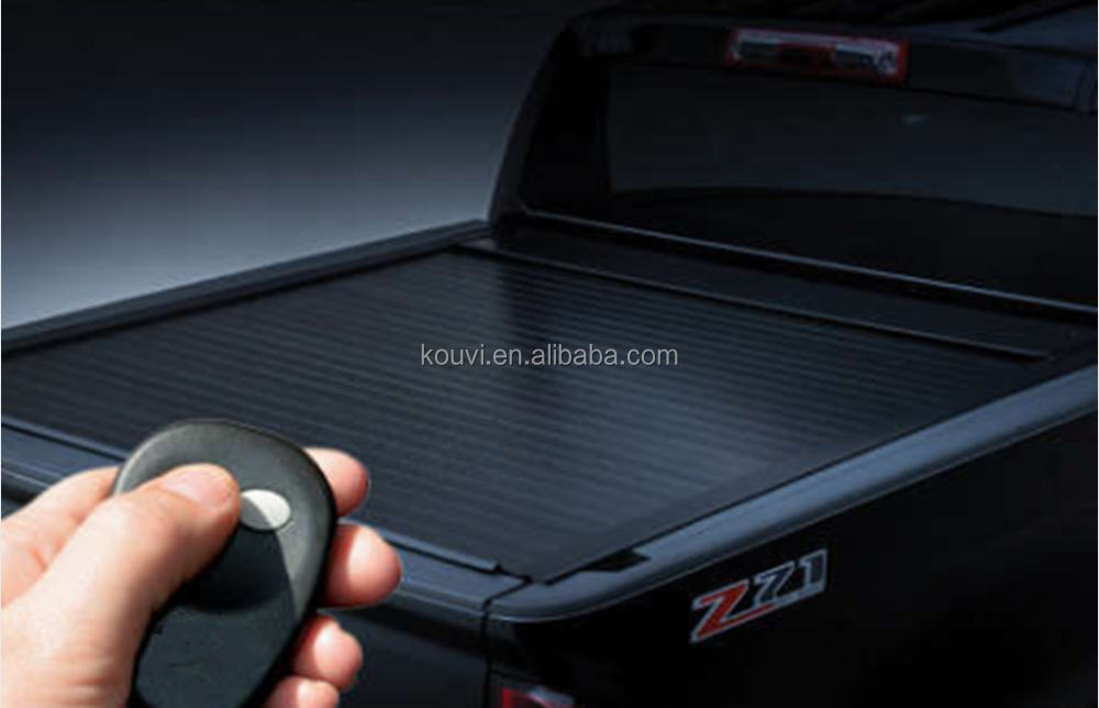 remote control bedlocker electric retractable tonneau cover for toyota hilux vigo 2015