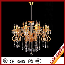 crystal parts Led hanging glass chandelier ceiling lamp for home decor hot selling