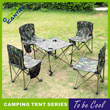 Outdoor Camping Folding Table One Set Camouflage Military Foldable Table and Chair