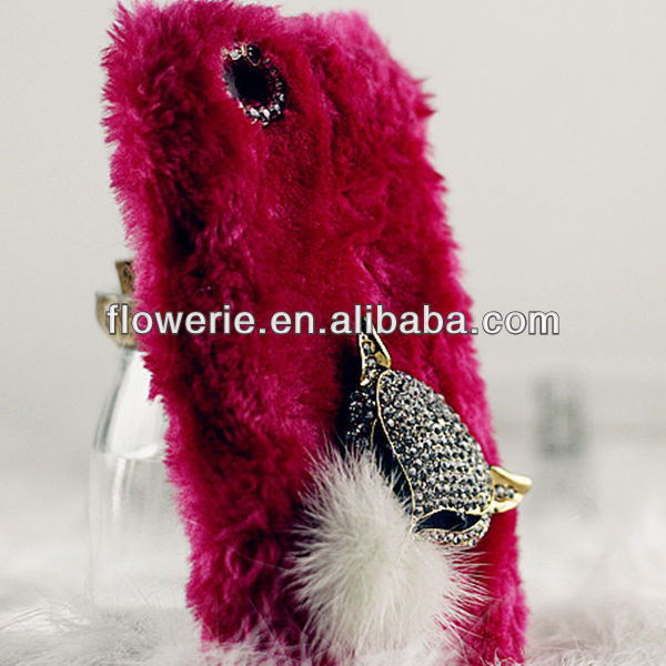 FL2854 2013 Guangzhou hot selling fuzzy toy phone case for iphone 5c