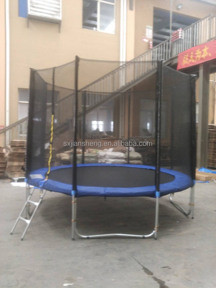 10ft cheap outdoor sport trampoline with safety enclosure