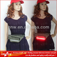 Customized Leather Hip Bag With LED Lights