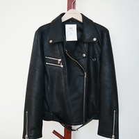 Fashion Breathable Lady Mens Leather Jacket