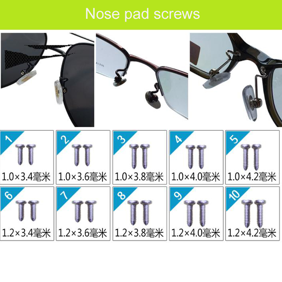 Eyeglasses Spare parts maintenance tool package For Screws Nose pad Screwdriver Gasket Nuts Cleaning Cloth Online Sale