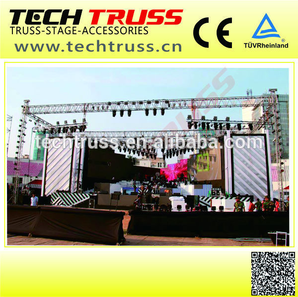 BOO-SS High Quality Strianght Aluminum Single Tube for Stage Decoration , Stage roof ,Easy to Assemble