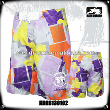 OEM apparel 100% polyester sublimation prints crazy board shorts