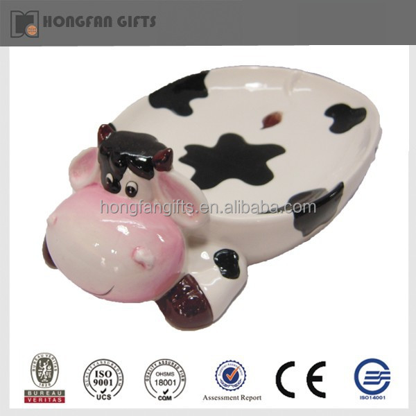cow shape ceramic snack dishes