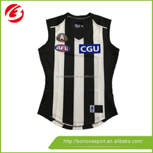 black and white stripe AFL jumpers
