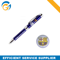 High Quality Blue Clear Picture Logo Metal Pen Manufacture Metal Ball Pen