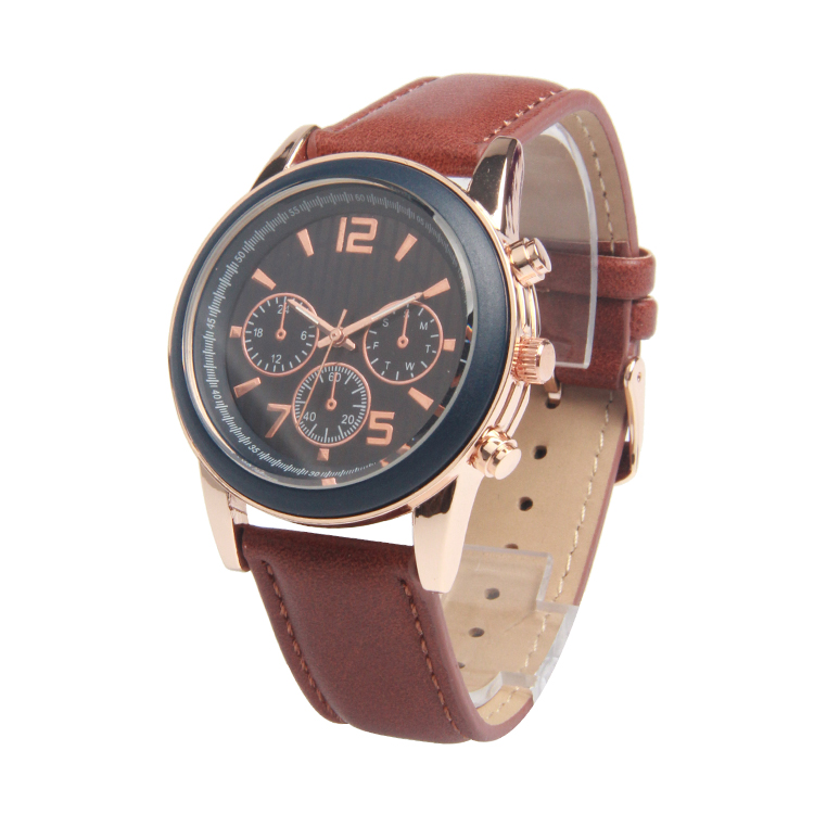 Wholesale high quality brand quartz movement rose gold case Wristwatches