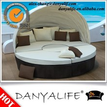 DYBED-D2213 Danyalife Swimming Pool Double Rattan Knocked Down Sofa Daybed
