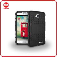 Dual Layer Tough Rugged Kickstand Hybrid Armor Heavy Duty Shockproof Cover Case for LG Optimus L70