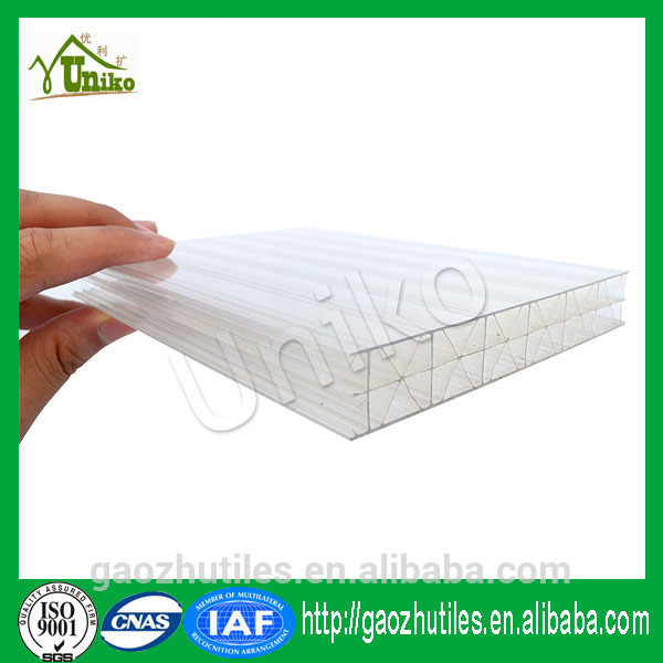 hot sale transparent colored pc sheet for greenhouse skylights