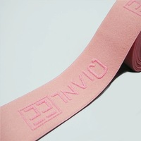 Eco-Friendly Feature Custom Wide Jacquard Nylon branded Elastic Waistband Band