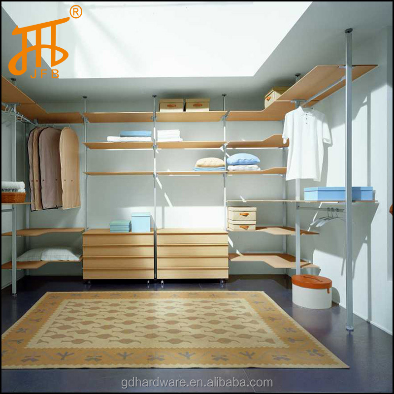 pole system open wardrobe custom bedroom closet