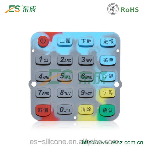 Noble Handtailor POS Machine Keyboard Silicon Rubber Button Keypad