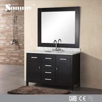 Natural Marble Countertop antique bathroom vanity cabinet with mirror