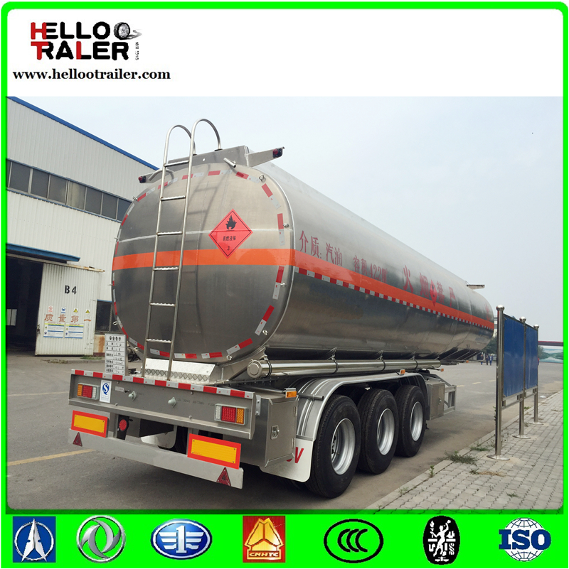 Aluminum Fuel Tank Semi Trailer/Insulation oil liquid Semi-Trailer with 41M3 volume tanker