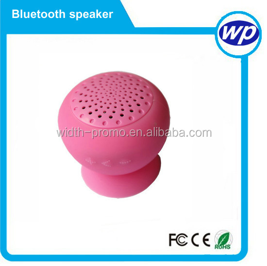 mini pvc mushroom Best Selling IPX4 Waterproof Shower Bluetooth 3.0 Waterproof Bluetooth Speaker