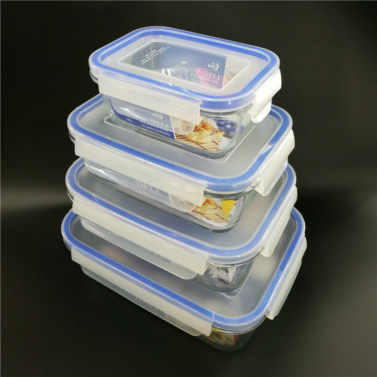 China heat resisting microwaveable Glass Food Container