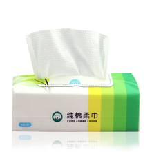 100% Cotton super absorbent nonwoven cleaning dry wipes soft and natural white clean cloth for baby care