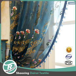 Beautiful fancy curtains with embroidery for living room