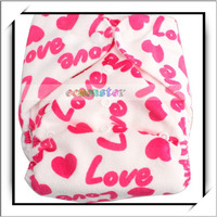 Baby Sunbaby Cloth Diaper Nappy Pink Love