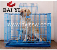 Wire Folding Pet Crate Dog Cage Easy Transport/Dog Cage Sample(Direct Factory, metal wire dog cage)