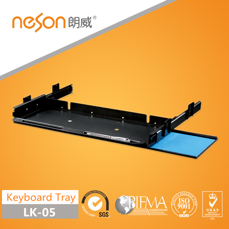 Steel keyboard tray with mouse tray have folding function