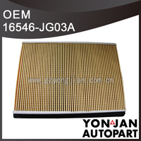 japanese car cabin air filter 16546-JG03A k and n air intake filters