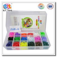 1800pcs bands1 pcs tool 24pcs S clips Wholesale DIY Rubber Loom Rainbow Bands