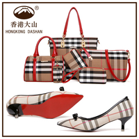 Bag and shoes set 6 for women in handbags shoes match Shoulder bag Wholesale made in china online shopping