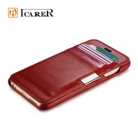 Card slot wallet case for Apple iPhone 6,genuine leather case for iPhone 6,mobile phone cover case for iPhone6