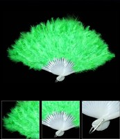 Feather factory supply Performance kids belly dance fan foldable Plastic Feather hand Fans