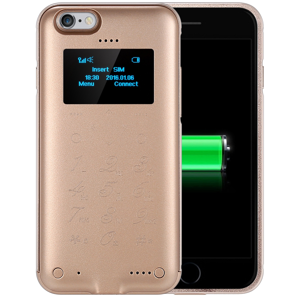 SOYES P6 1.3 inch OLED Screen Back Cover Mobile Power Bank Function Touch Keypad Cell Phone