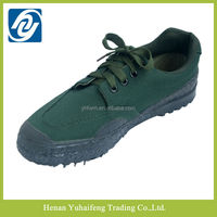 China factory high quality men's dark green canvas casual shoes