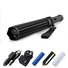 Heavy Duty Self Defense LED Flashlight Bright Aluminum Telescopic Adjustable Zoomable Flashlight Torch Baton Long Distance