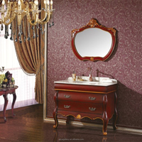 Floor Mounted Single Sink Bathroom Cabinet in Antique Style
