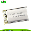 3.7V 340mAh 582035 Rechargeable lipo Battery for MP3,MP4