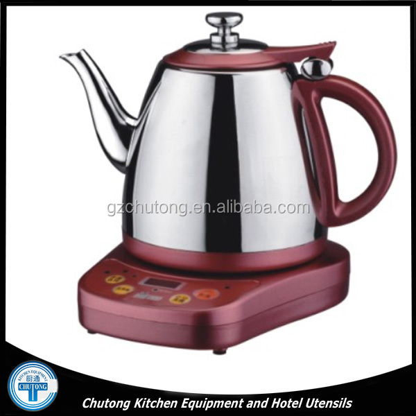 Electric Kettle/Home Appliance Red Stainless Steel with Base Electric Kettle