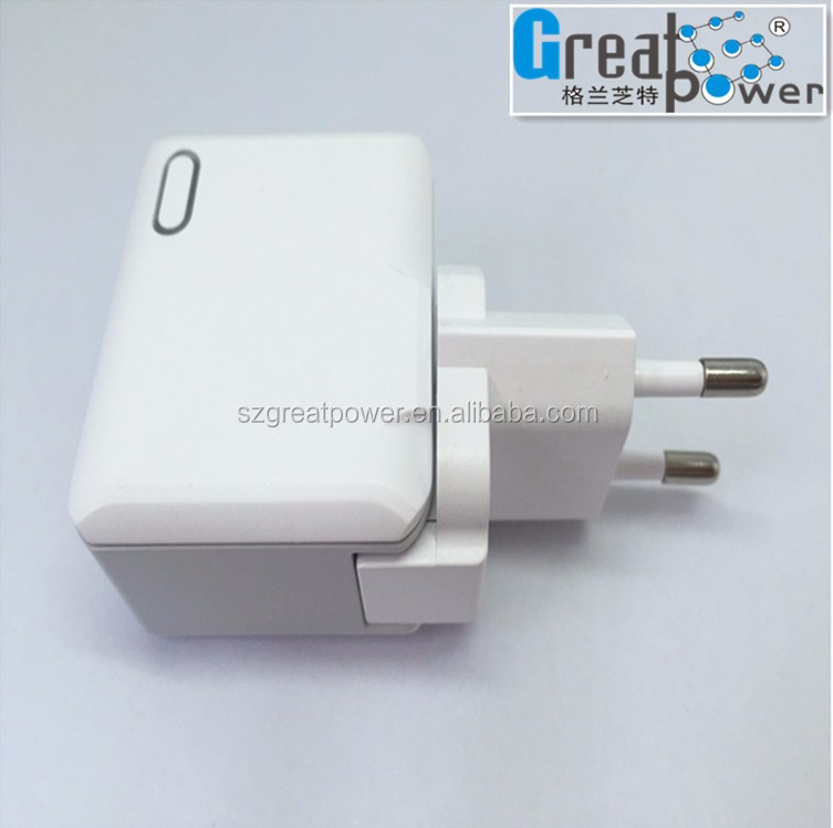 2 port usb charger home and usb wall charger with changeable EU AUS US UK plugs 3A output
