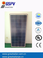 150W poly solar panel/poly solar charging panel kit OEM ,for solar panel system