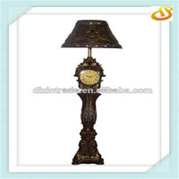 antique floor lamp with clock