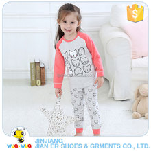 Latest design 2 pcs set sleep wear body suit clothing for children baby girl