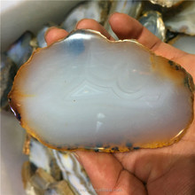 Wholesale Natural Brazilian Agate Slice Coaster polished Agate Slab Decorative Ornament for Sale