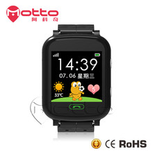 2017 Fashion design low cost mobile phone wrist watch fast gps tracking device for kids