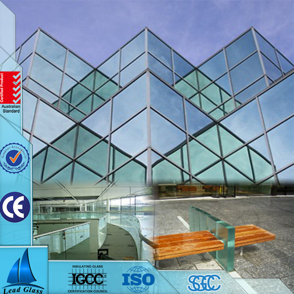 Good price glass curtain wall price /curtain walls glass size /thermal glass insulated energy saving glass curtains