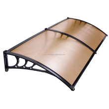 Popular Clear Polycarbonate Outdoor canopy rain protection for windows