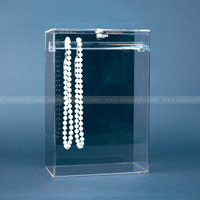 Lockable Acrylic Jewelry Showcase, Lucite Jewellery Display Case, Custom Acrylic Cabinet for Jewelry